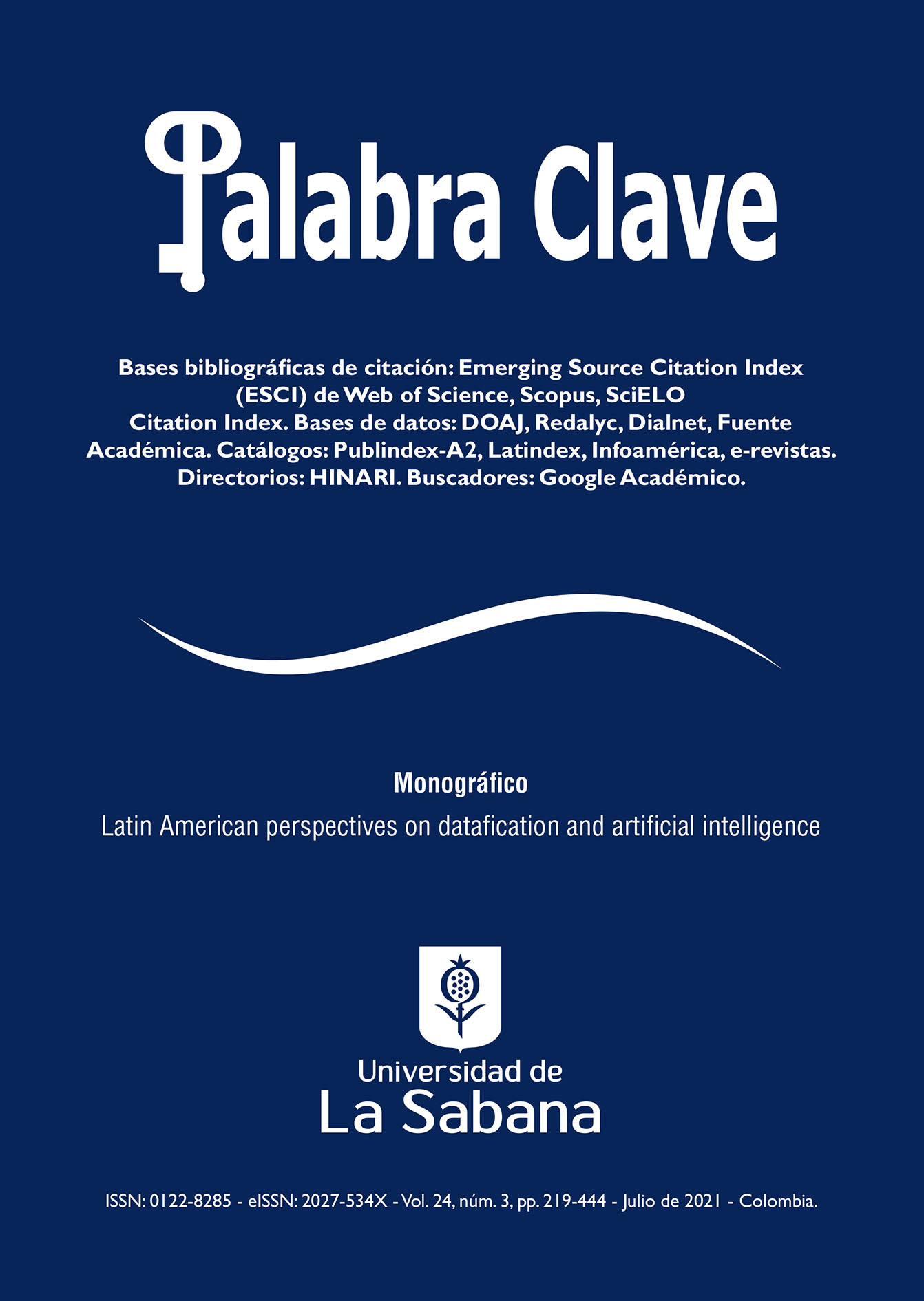Ver Vol. 24 Núm. 3 (2021): Latin American perspectives on datafication and artificial intelligence